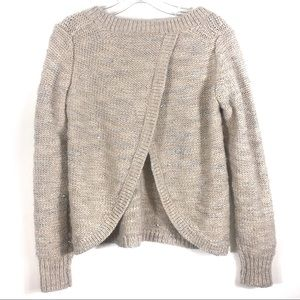 Banana Republic Sparkly Wool Exposed Back Sweater